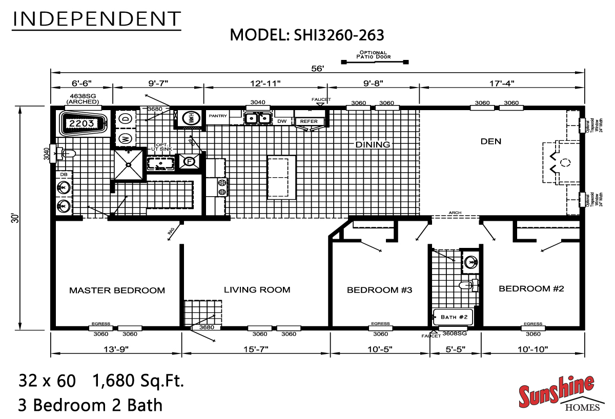 Floor Plan Layout: Independent / SHI3260-263