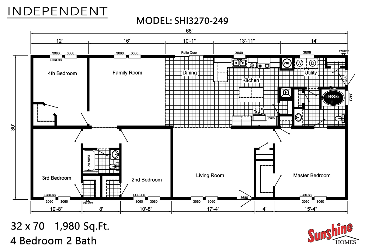 Floor Plan Layout: Independent / SHI3270-249