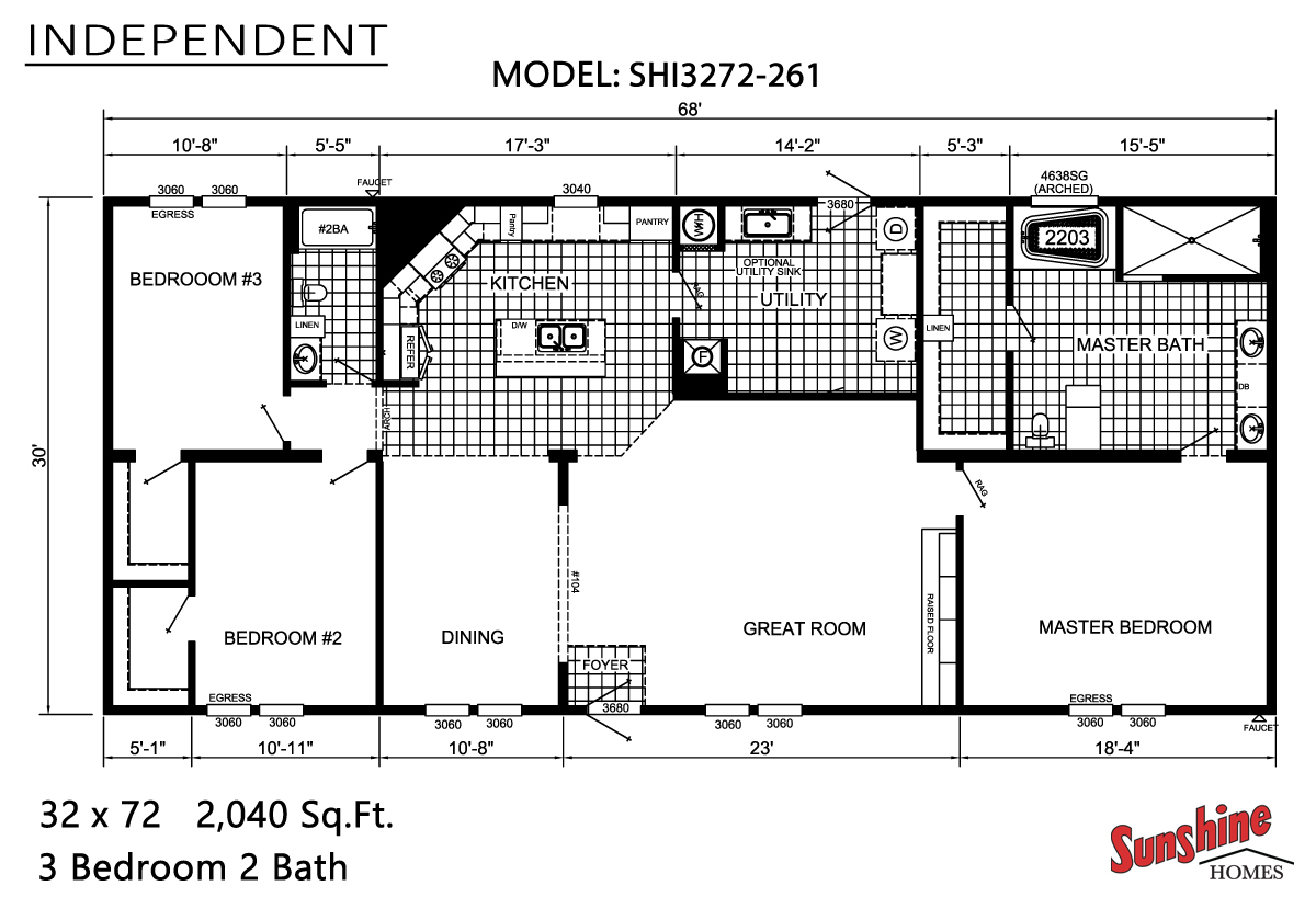Floor Plan Layout: Independent / SHI3272-261
