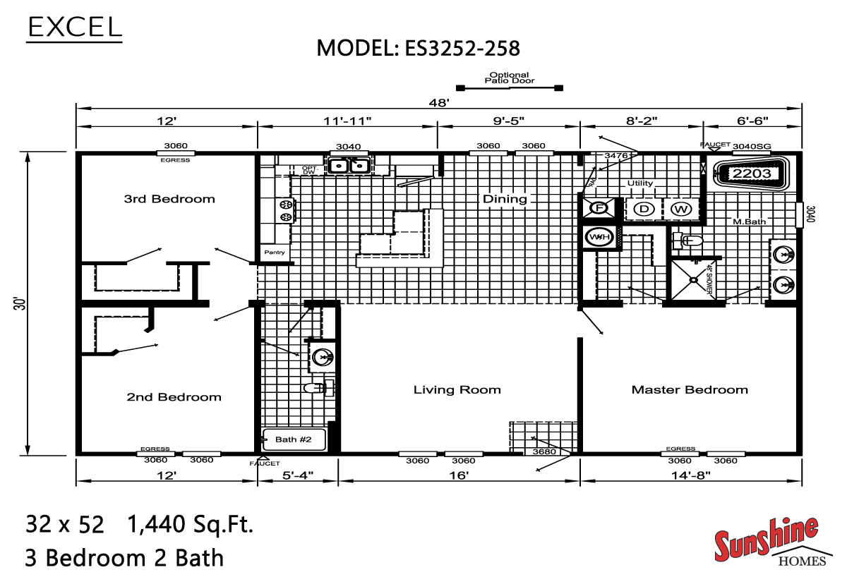 Floor Plan Layout: Excel / ES3252-258