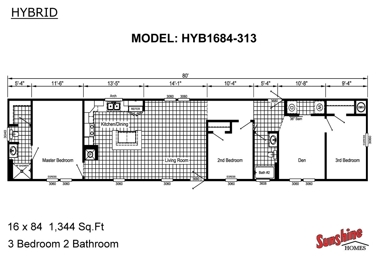Floor Plan Layout: Hybrid / HYB1684-313