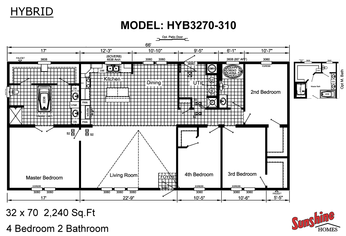 Floor Plan Layout: Hybrid / HYB3270-310