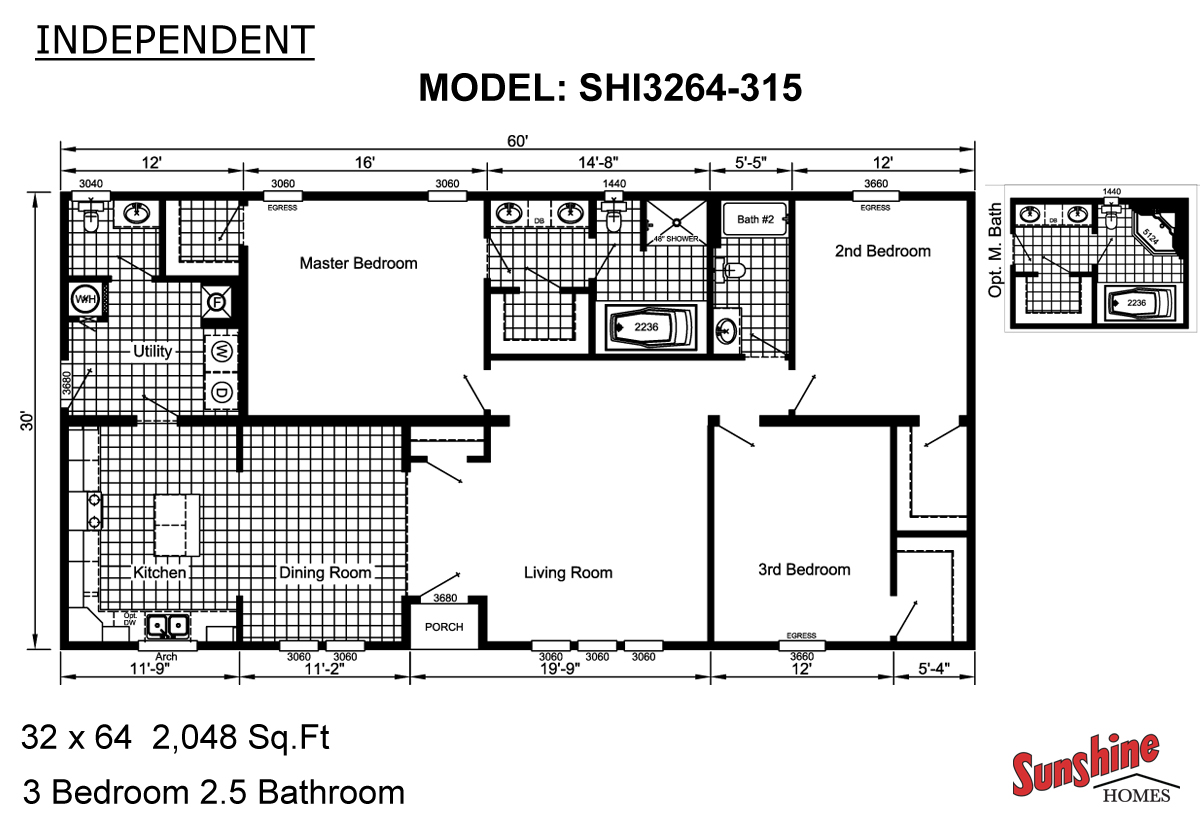 Floor Plan Layout: Independent / SHI3264-315