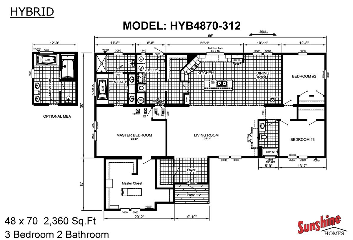 Floor Plan Layout: Hybrid / HYB4870-312