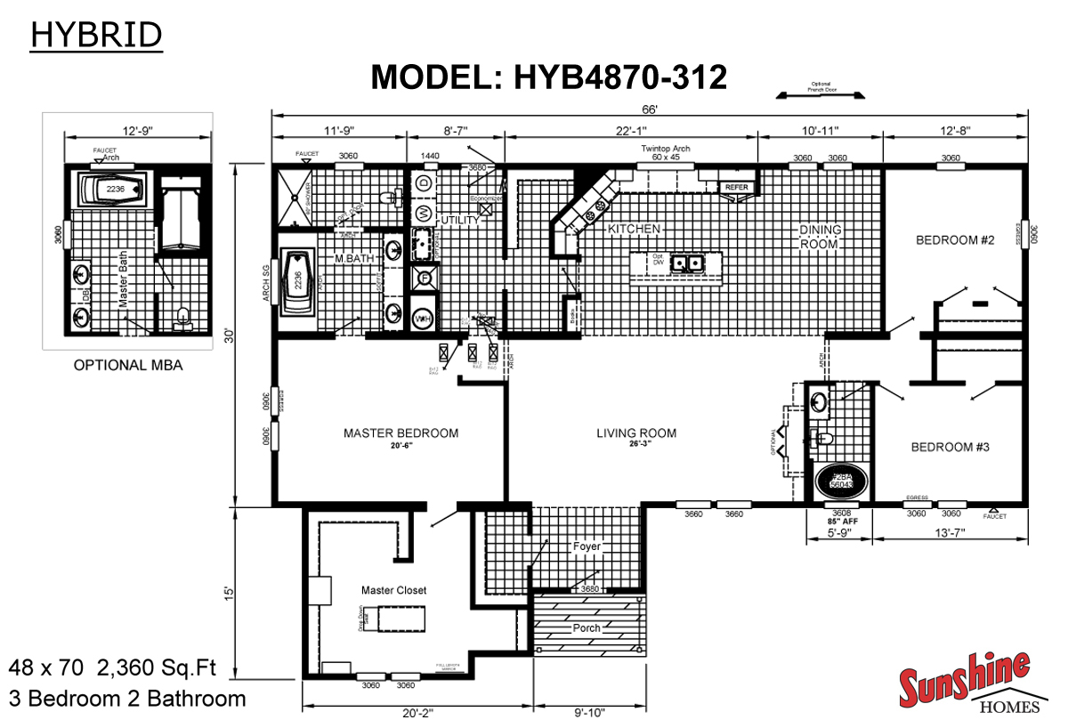 Floor Plan Layout: Hybrid / HYB4870-312