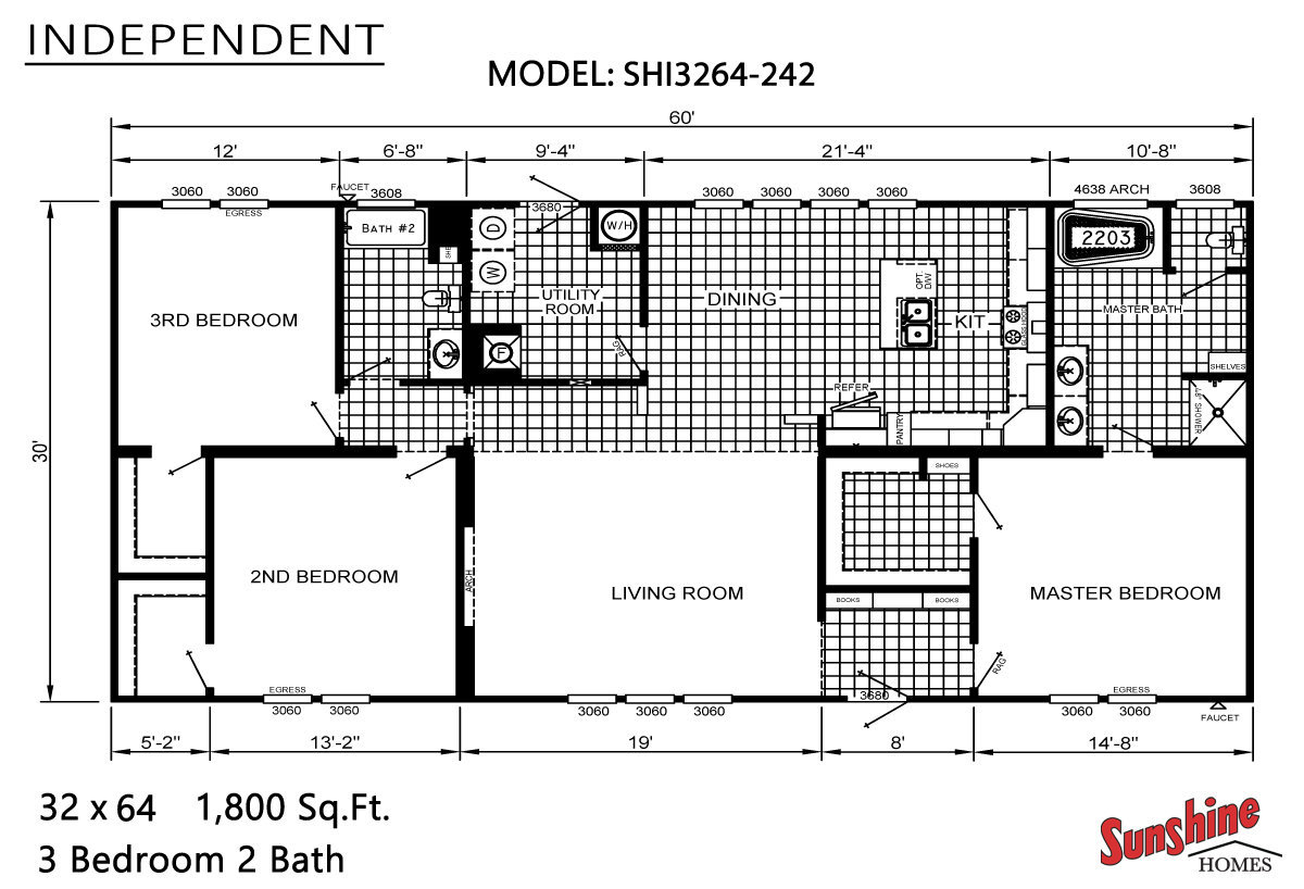 Floor Plan Layout: Independent / SHI3264-242