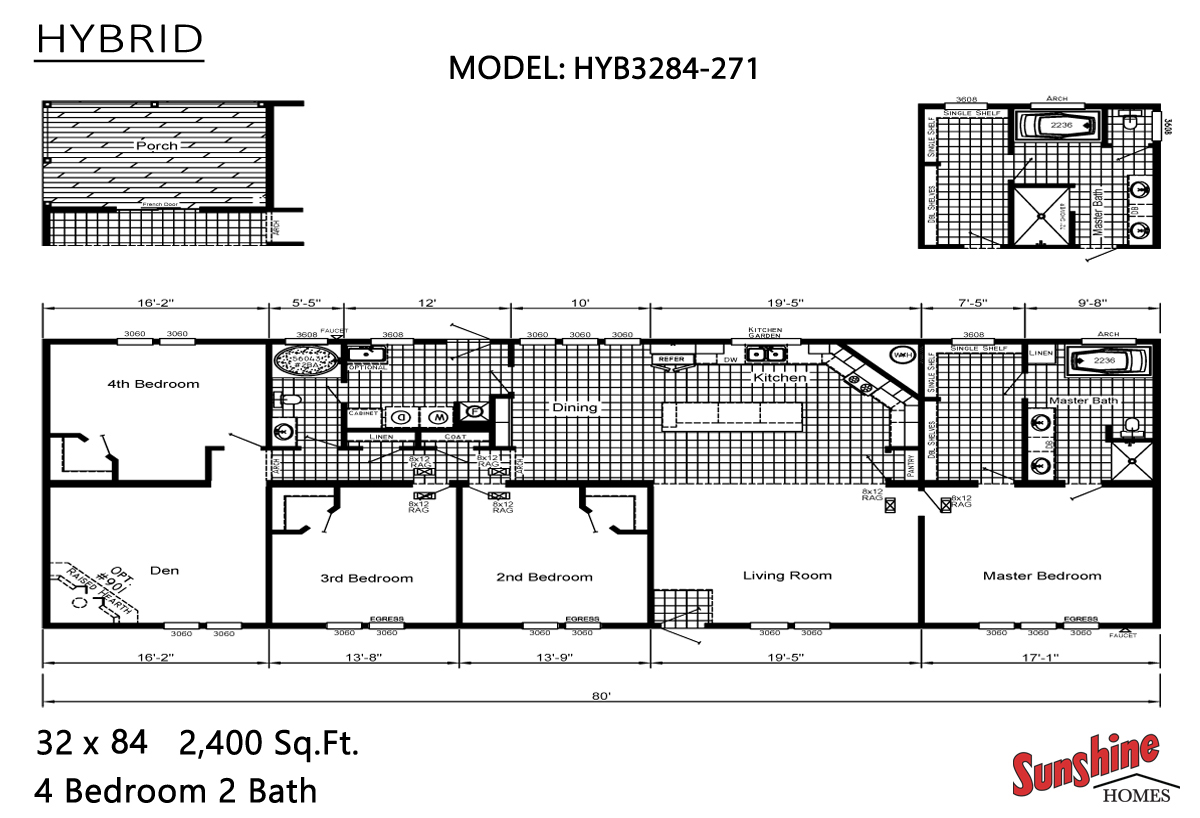 Floor Plan Layout: Hybrid/HYB3284-271