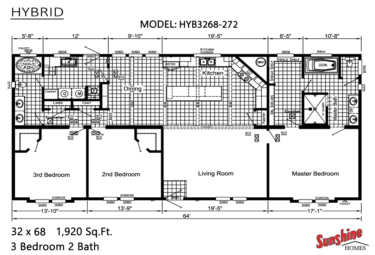 Floor Plan Layout: Hybrid / HYB3268-272