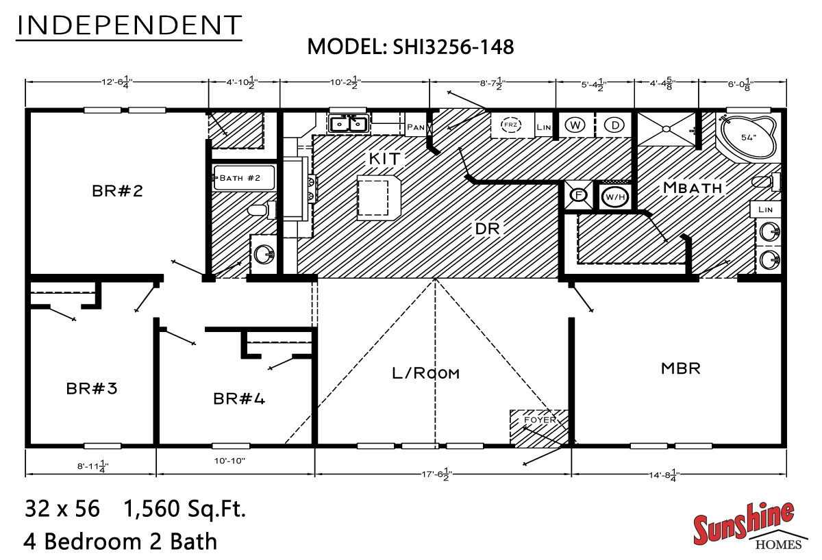 Floor Plan Layout: Independent / SHI3256-148