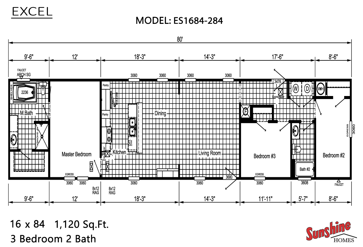 Floor Plan Layout: Excel / ES1684-284