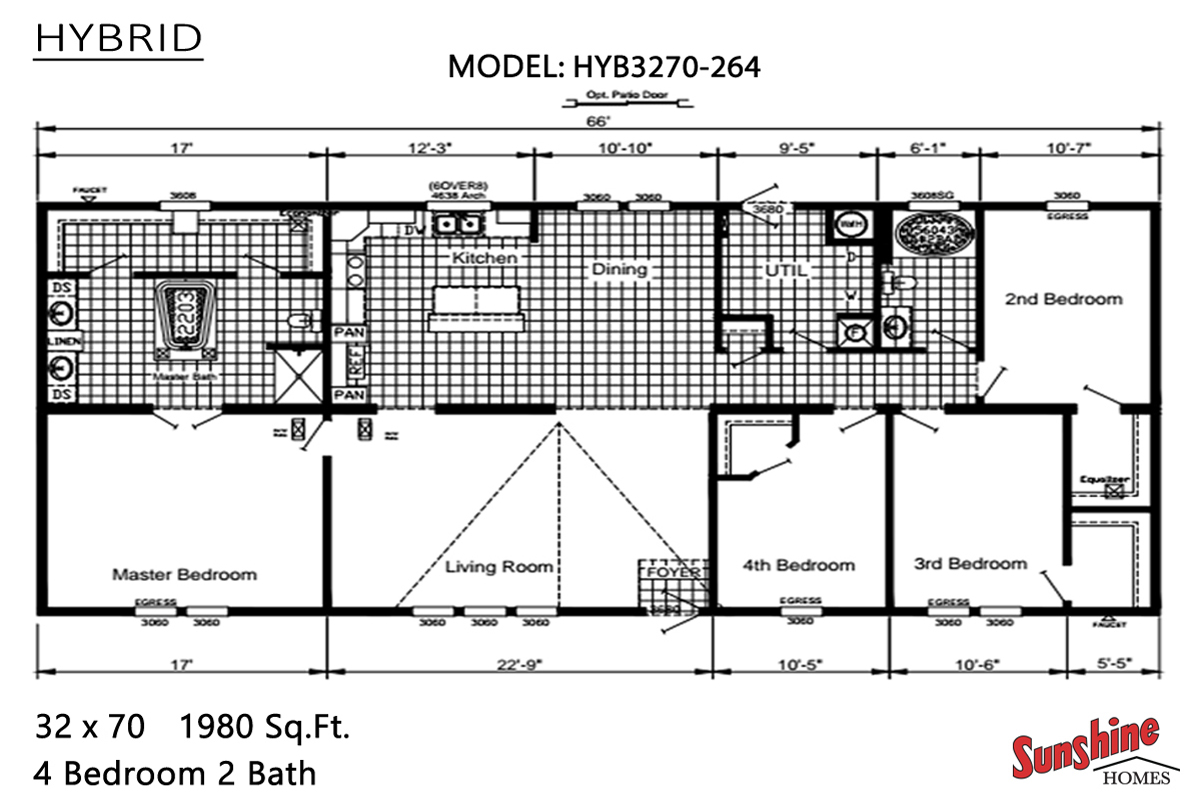 Floor Plan Layout: Hybrid / HYB3270-264