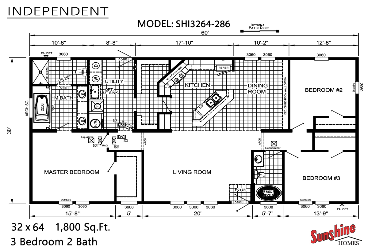 Floor Plan Layout: Independent / SHI3264-286