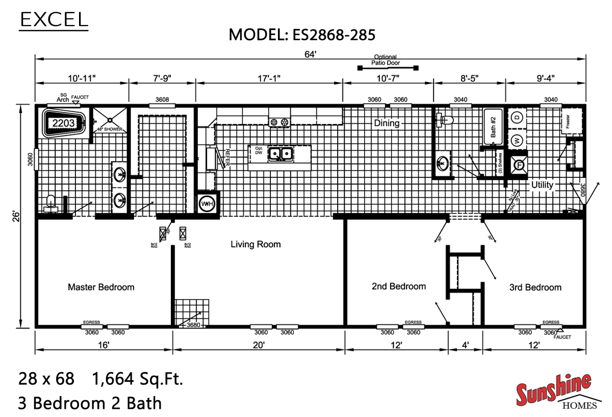 Floor Plan Excel ES2868-285