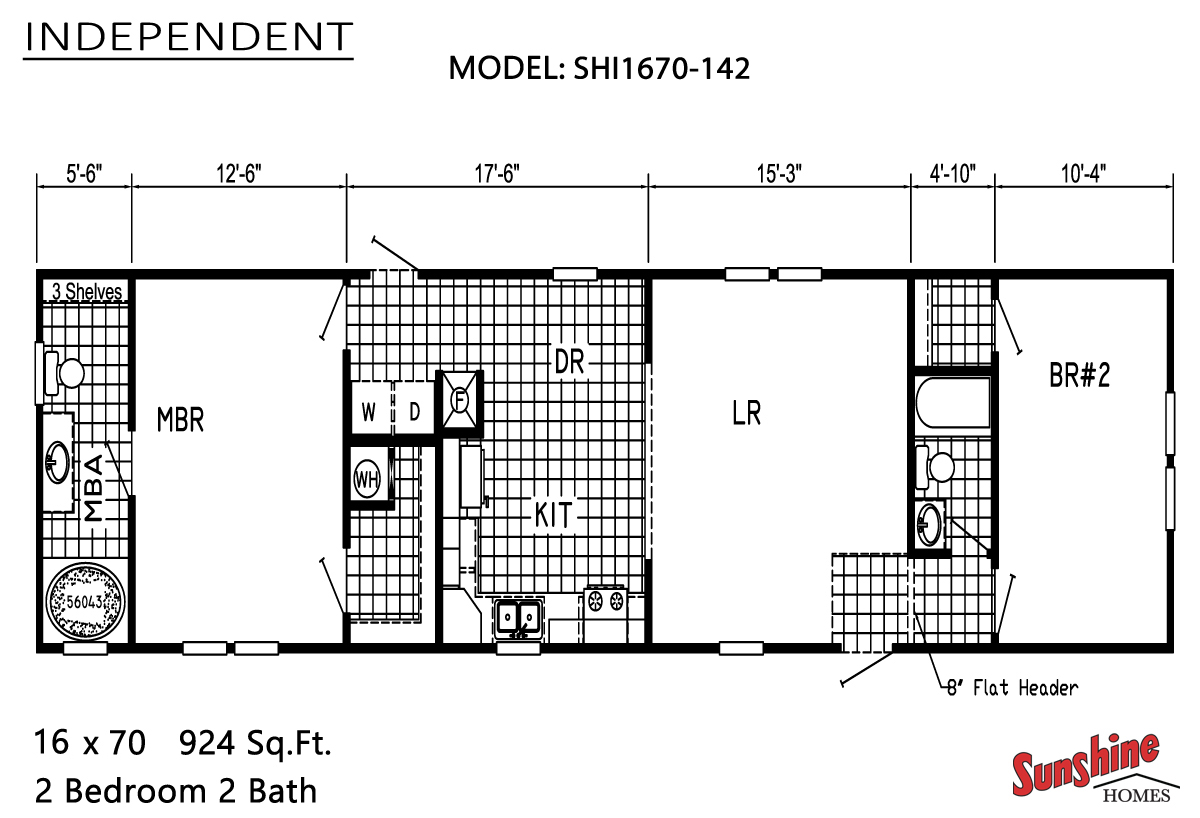 Floor Plan Layout: Independent / SHI1670-142