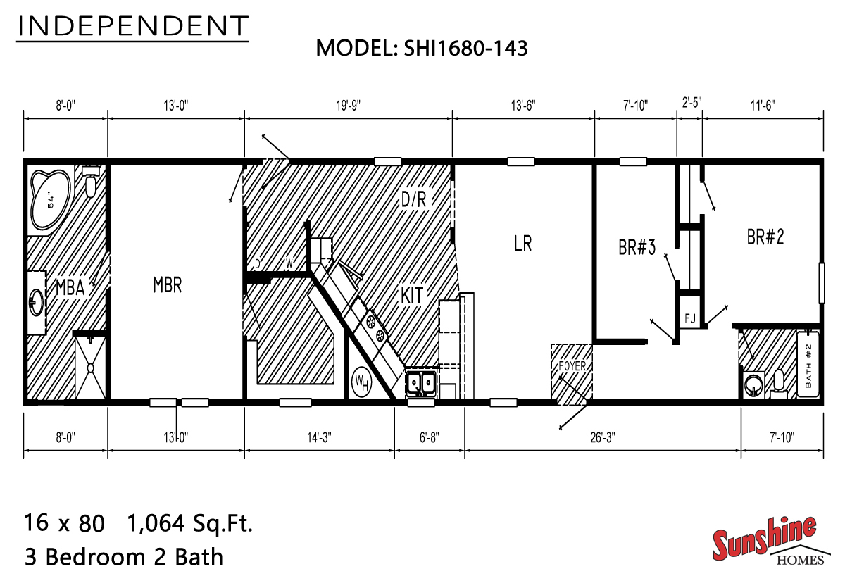 Floor Plan Layout: Independent / SHI1680-143