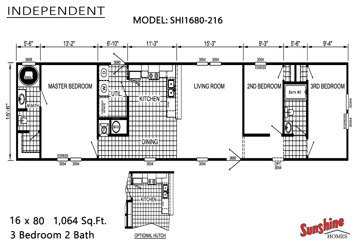 Floor Plan Layout: Independent / SHI1680-216