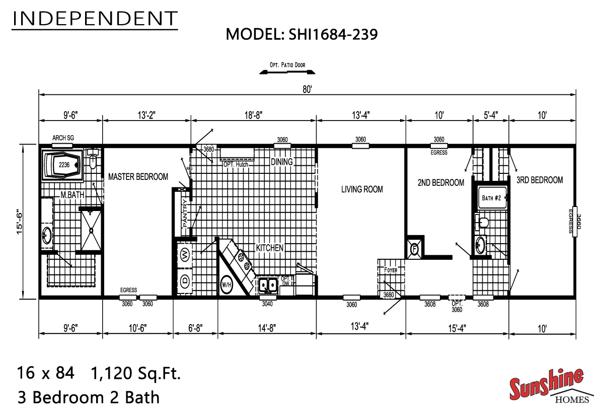 Floor Plan Layout: Independent / SHI1684-239