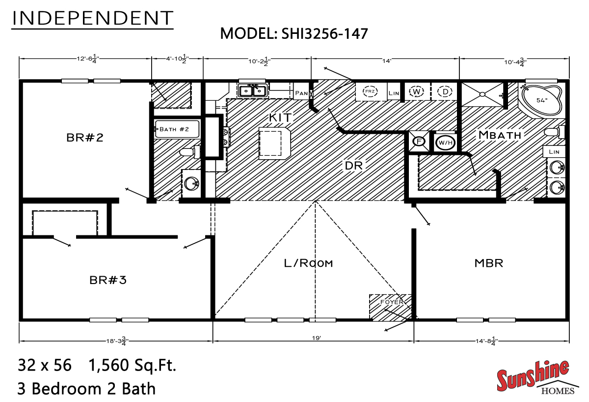 Floor Plan Layout: Independent/SHI3256-147