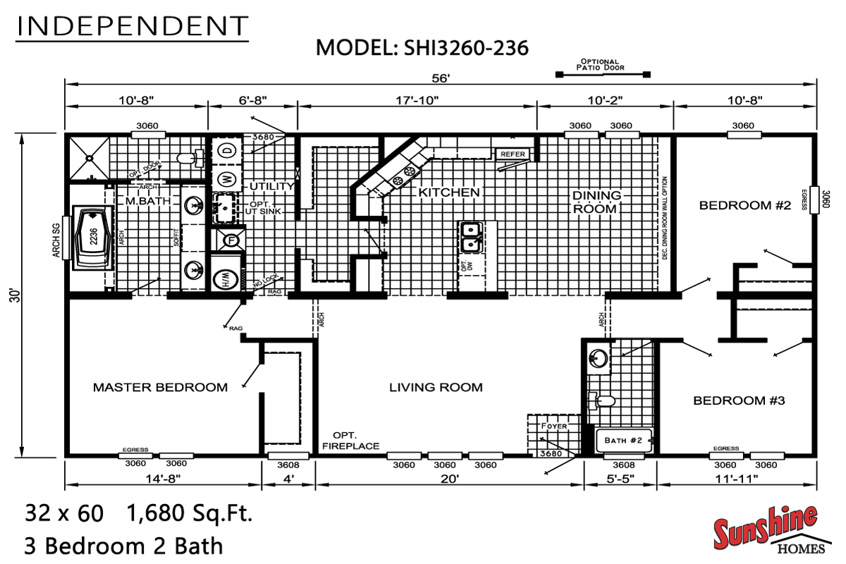 Floor Plan Layout: Independent / SHI3260-236