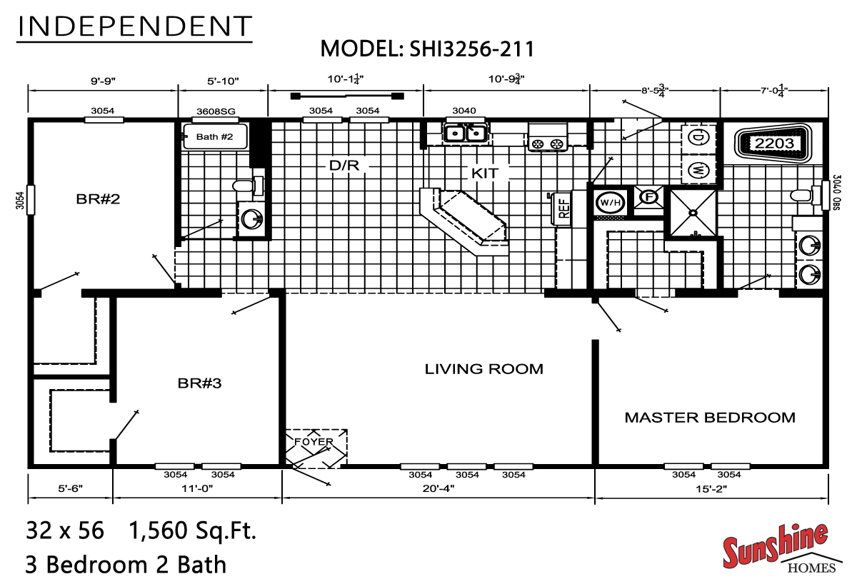 Floor Plan Layout: Independent / SHI3256-211