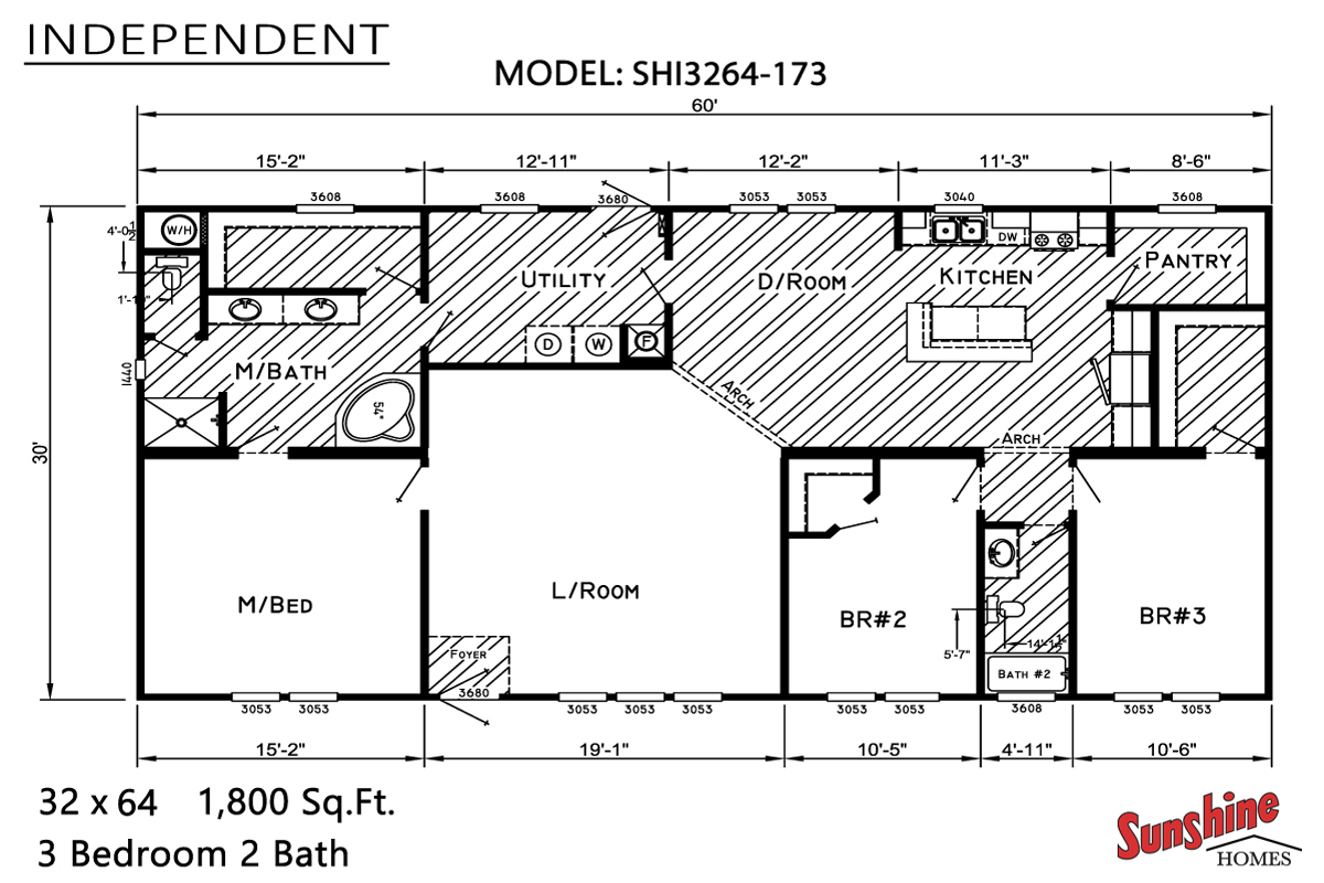 Floor Plan Layout: Independent / SHI3264-173