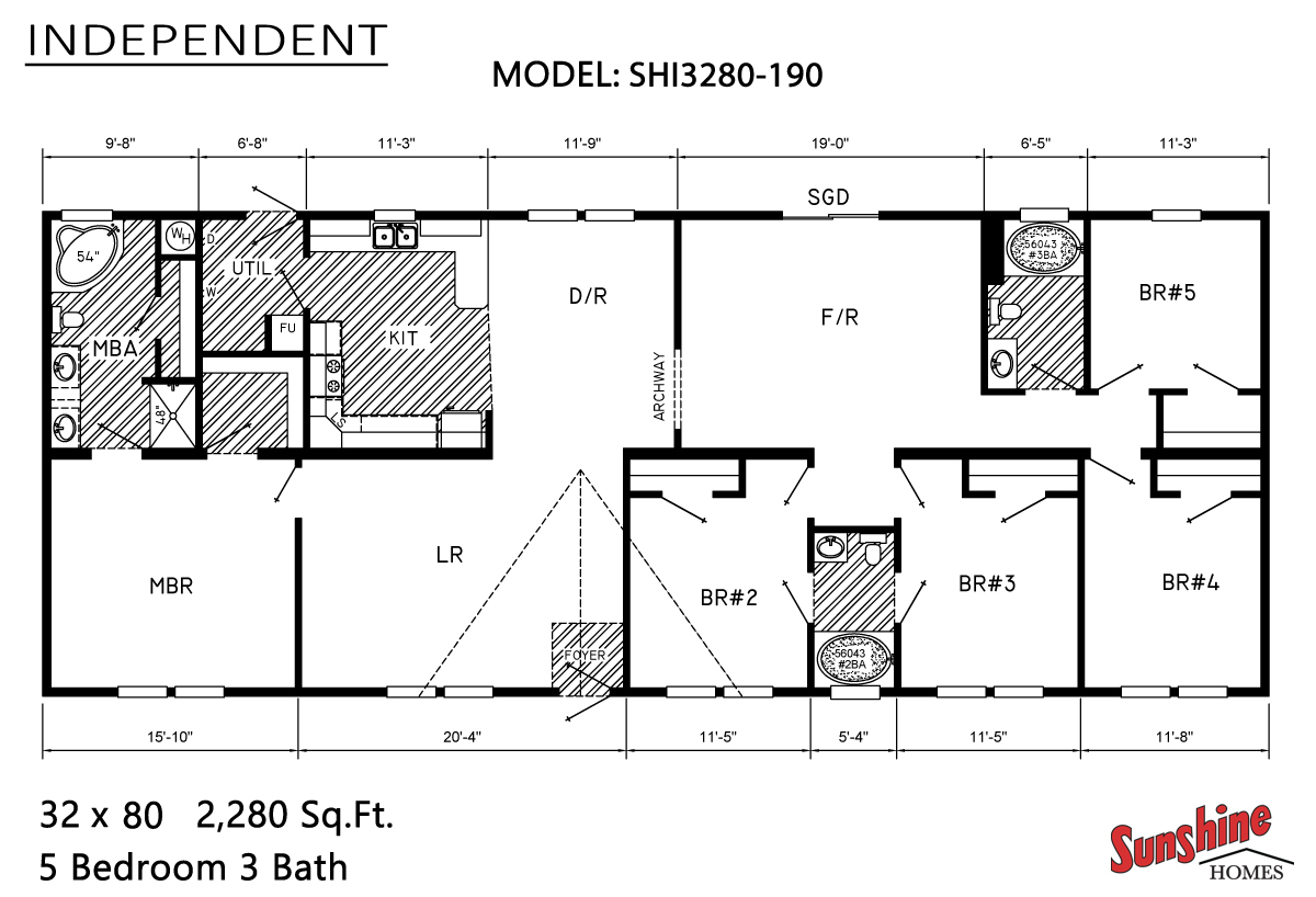 Floor Plan Layout: Independent / SHI3280-190