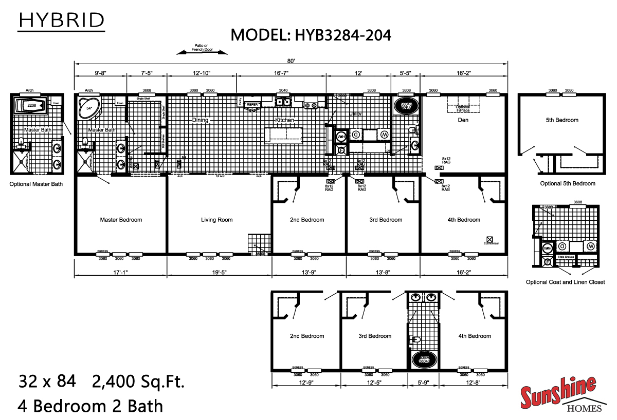Floor Plan Layout: Hybrid/HYB3284-204