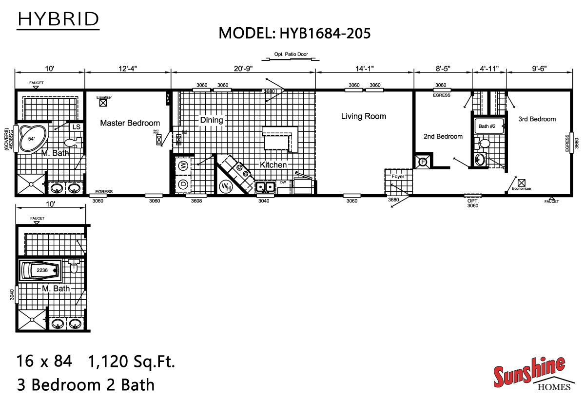 Floor Plan Layout: Hybrid/HYB1684-205