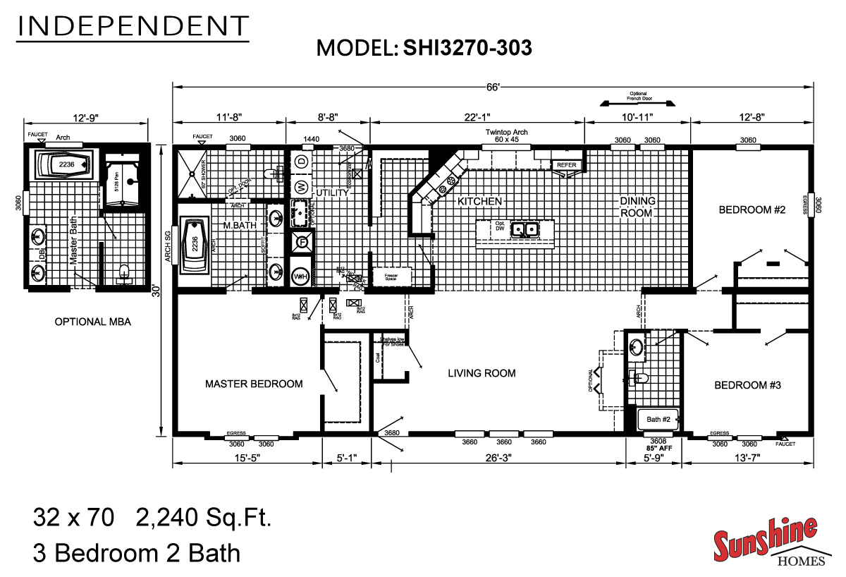 Floor Plan Layout: Independent / SHI3270-303