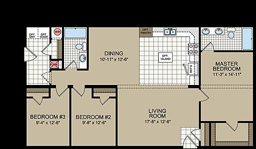 Floor Plan Layout: Great Plains / N854