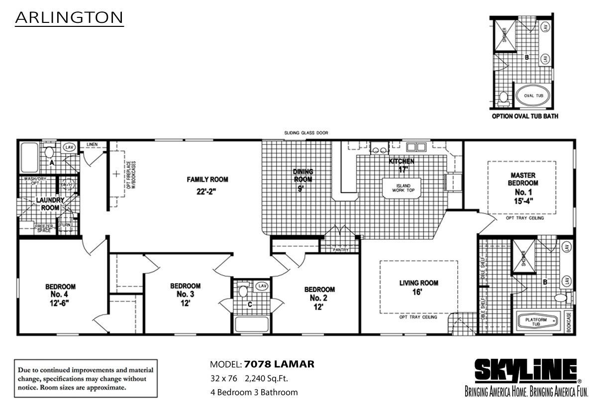 Floor Plan Layout: Arlington / 7078 Lamar
