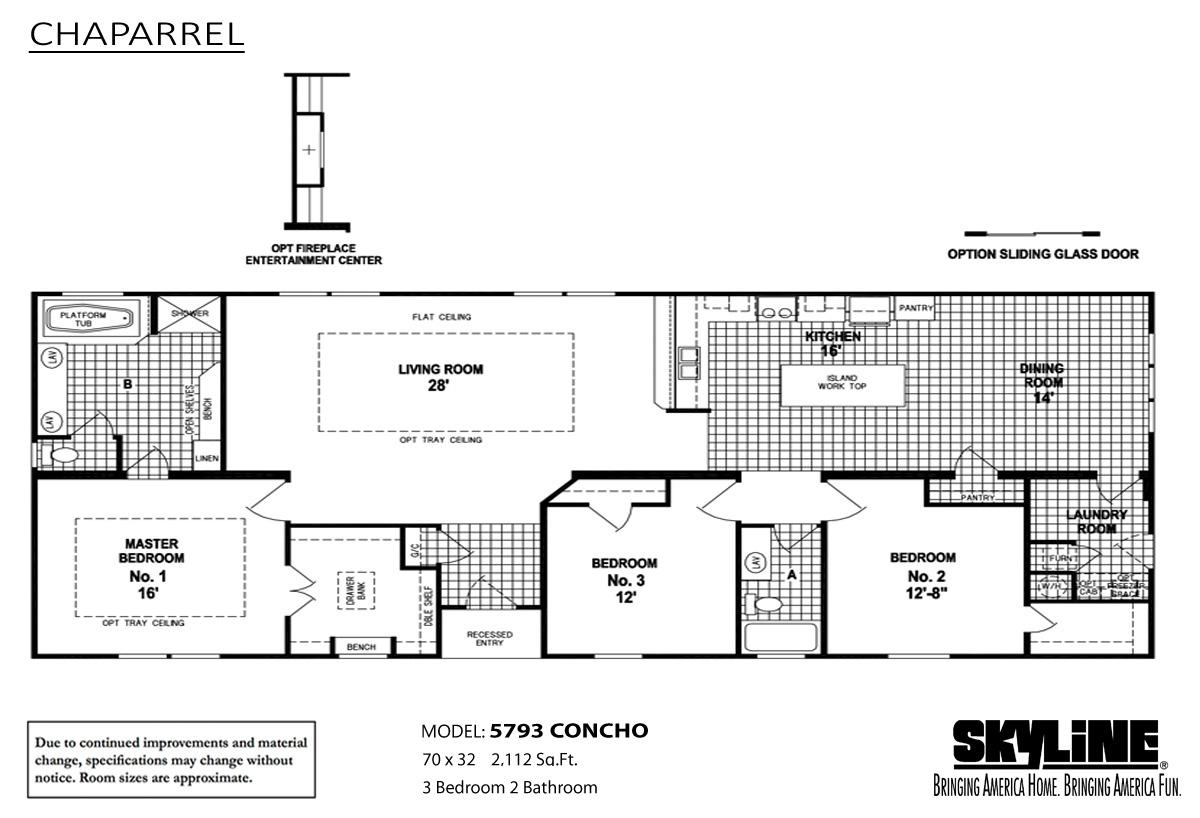 Floor Plan Layout: Chaparrel / 5793 Concho