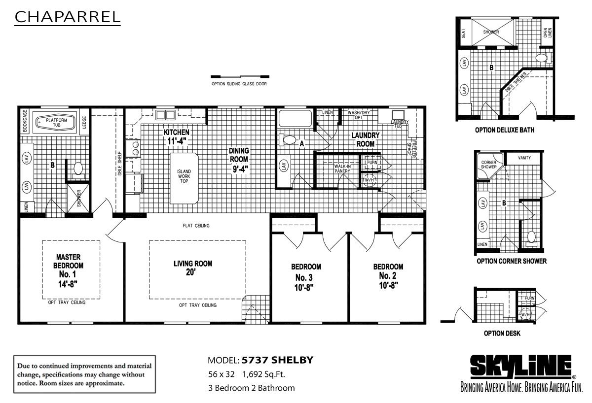 Floor Plan Layout: Chaparrel / 5737 Shelby
