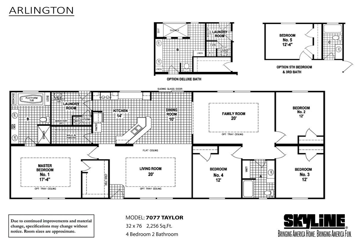 Floor Plan Layout: Arlington / 7077 Taylor