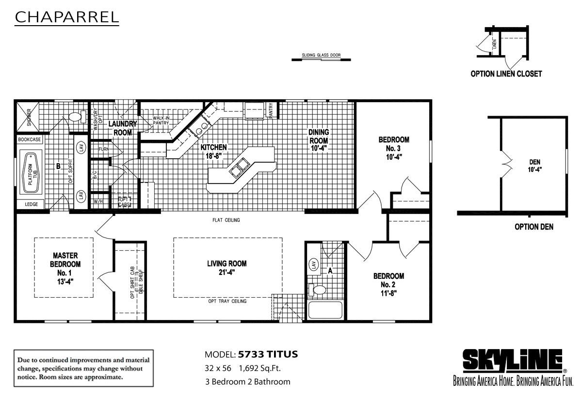 Floor Plan Layout: Chaparrel / 5733 Titus
