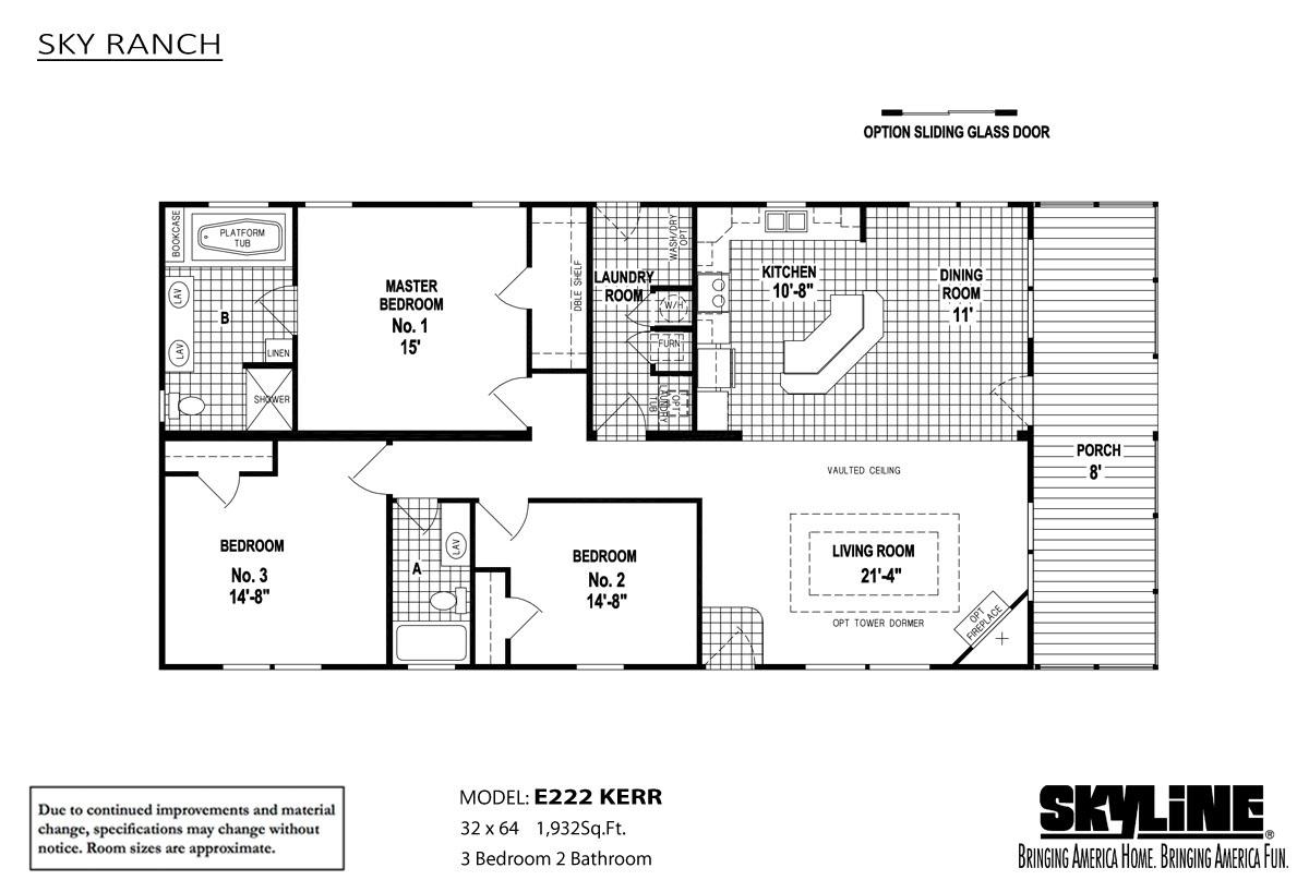 Floor Plan Layout: Sky Ranch / E222 Kerr