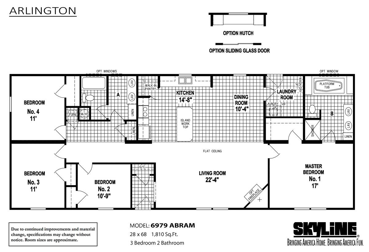 Floor Plan Layout: Arlington / 6979 Abram