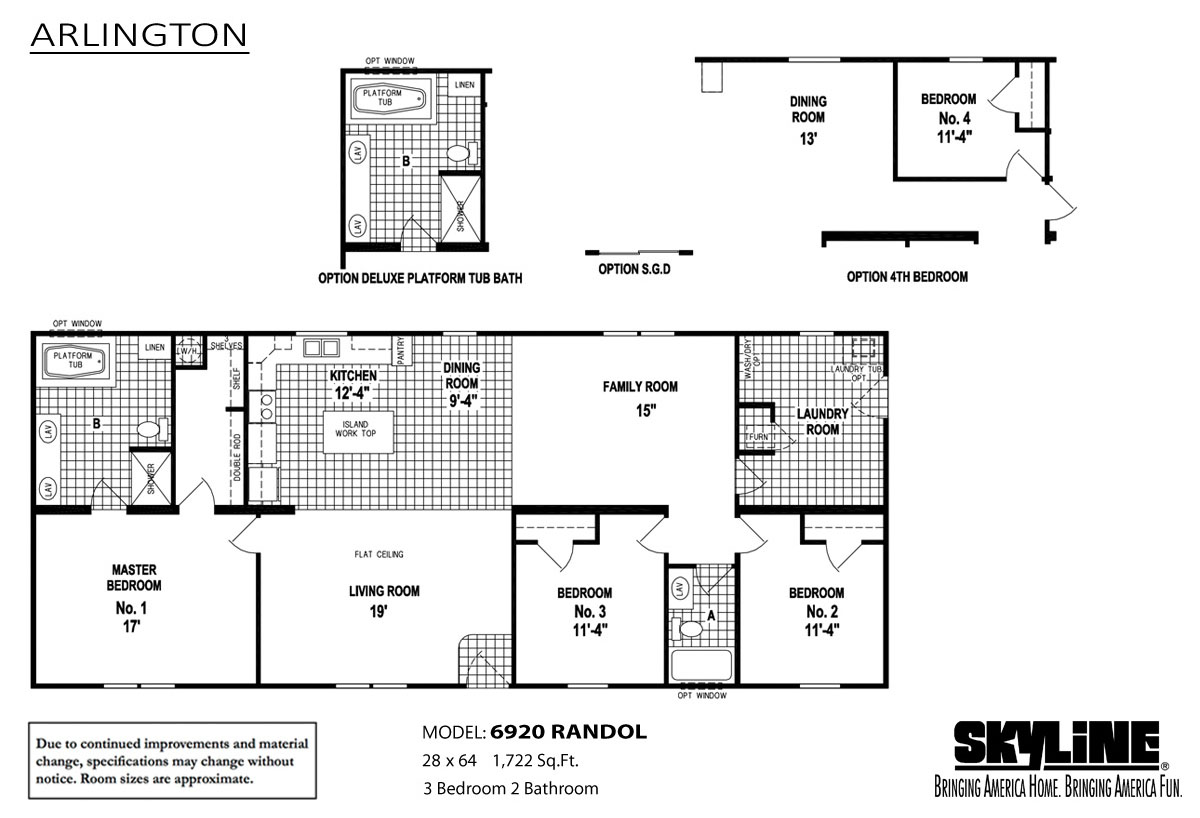 Floor Plan Layout: Arlington / 6920 Randol