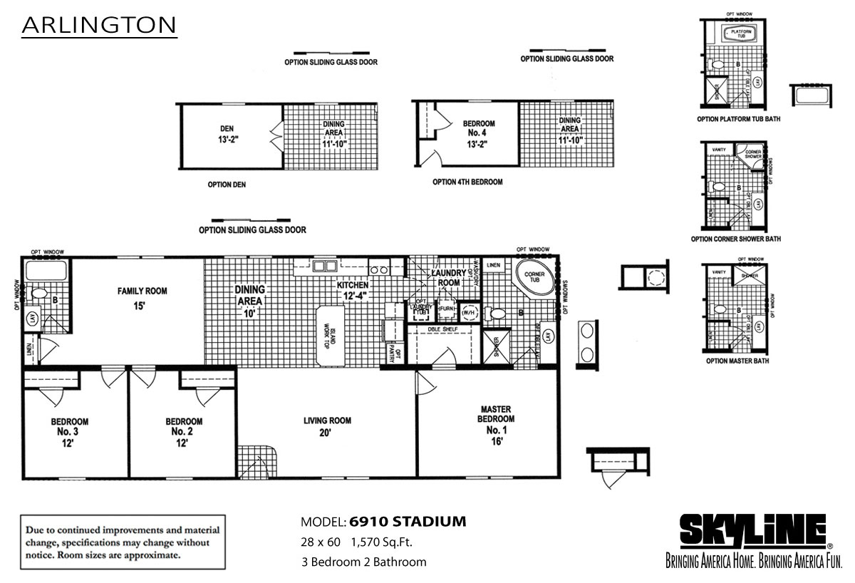 Floor Plan Layout: Arlington / 6910 Stadium