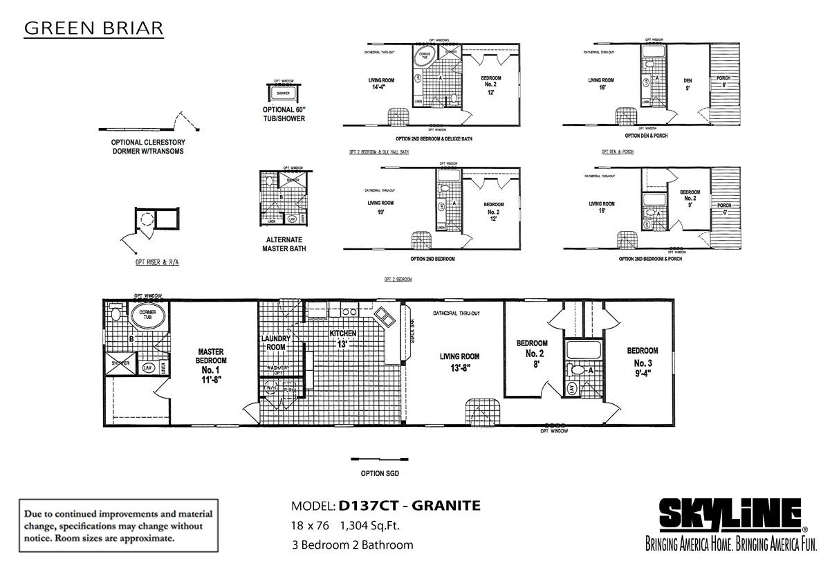 Floor Plan Layout: Green Briar / D137CT-Granite