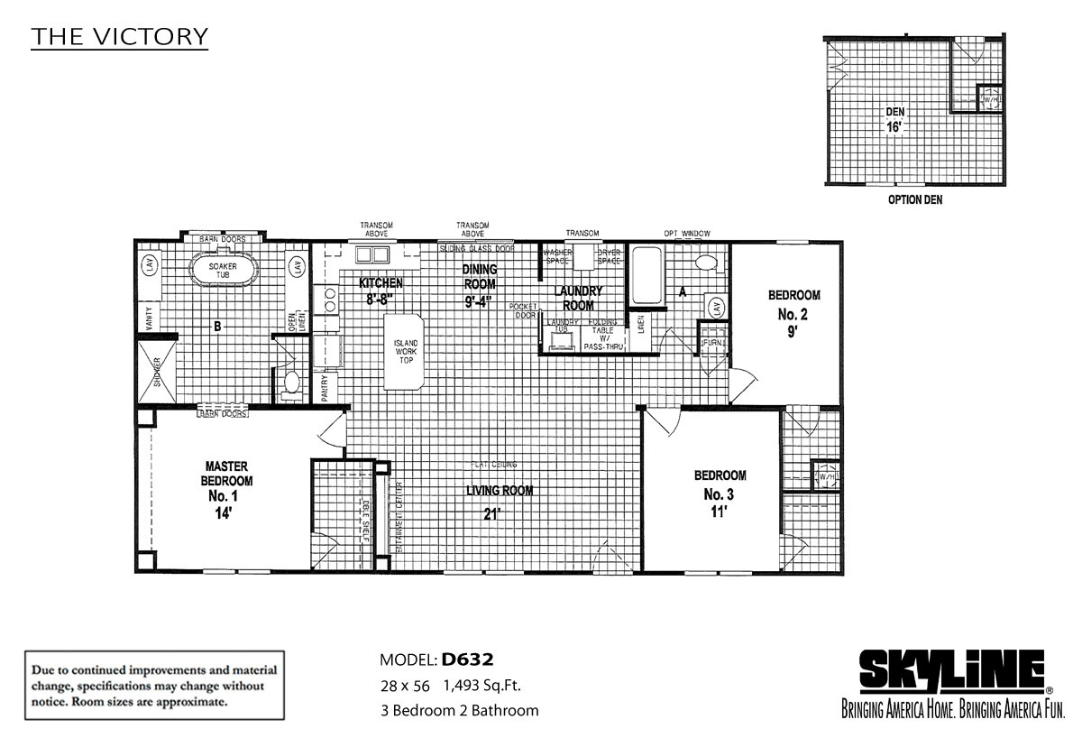 Floor Plan Layout: The Victory / D632