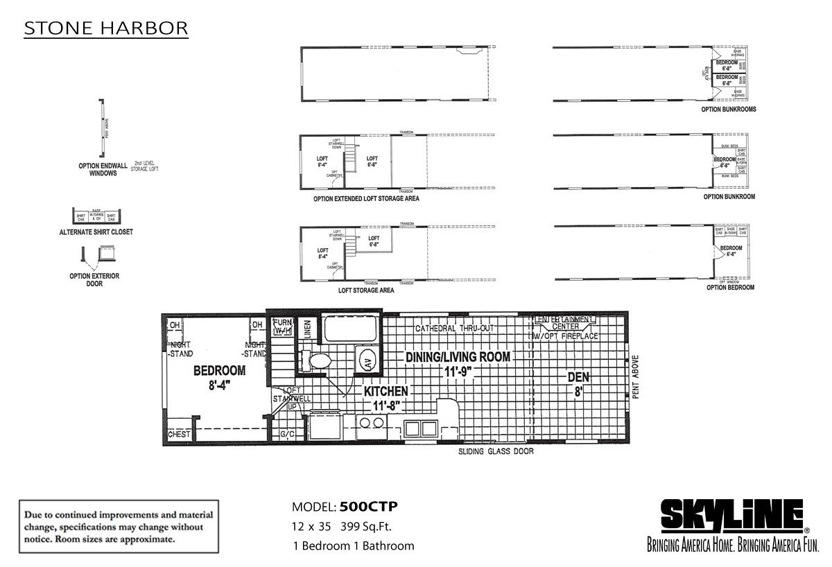 Floor Plan Layout: Stone Harbor / 500AB