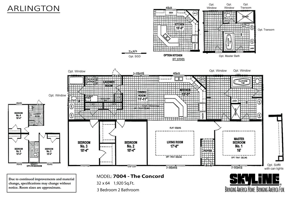 Floor Plan Layout: Arlington / 7004 The Concord