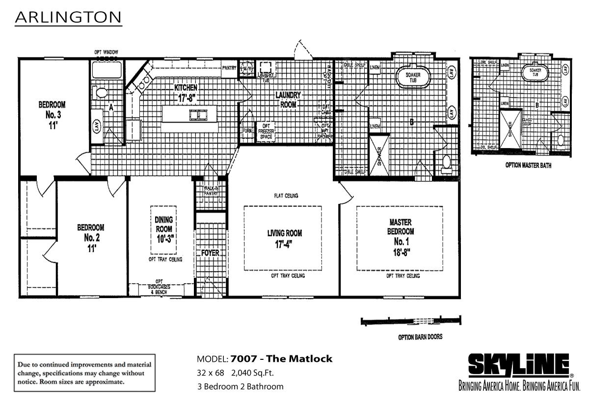 Floor Plan Layout: Arlington / 7007 The Matlock