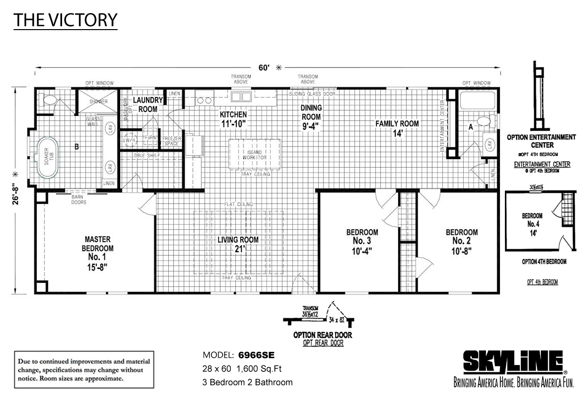 Floor Plan Layout: The Victory / 6966SE