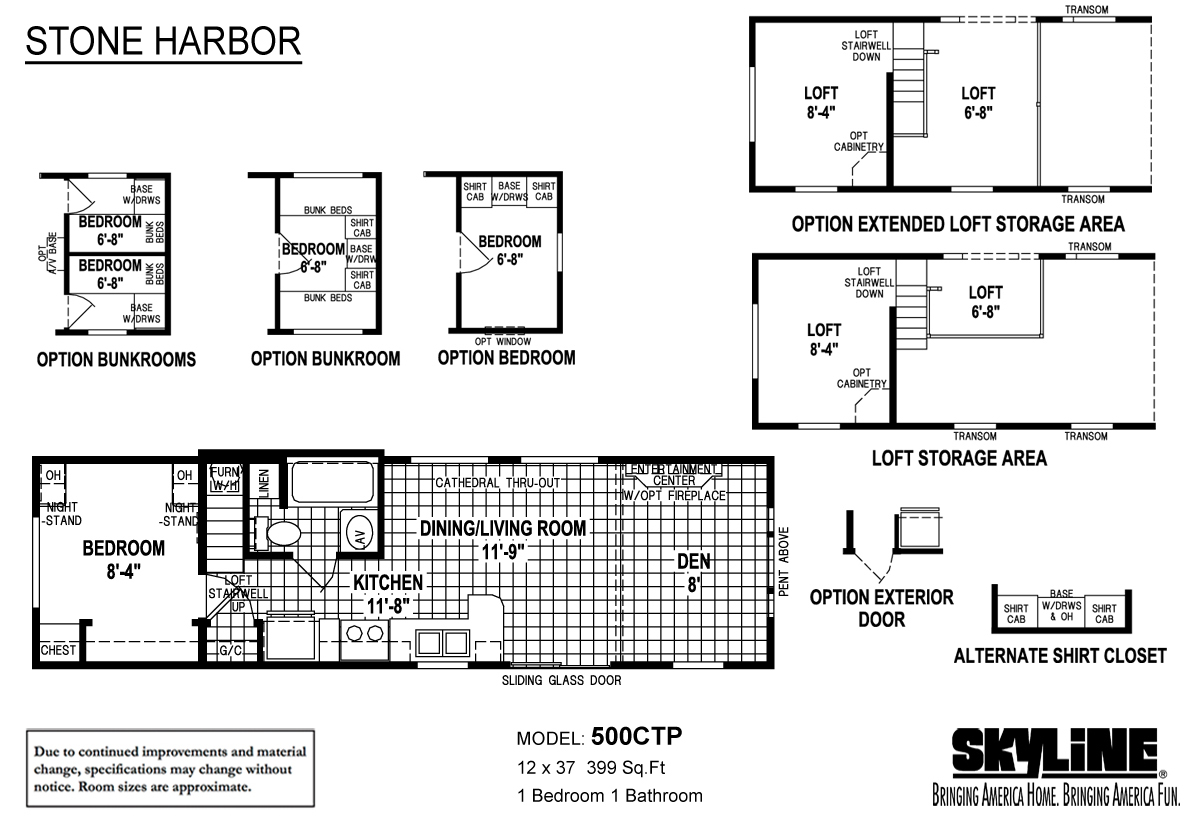 Floor Plan Layout: Stone Harbor / 500CTP