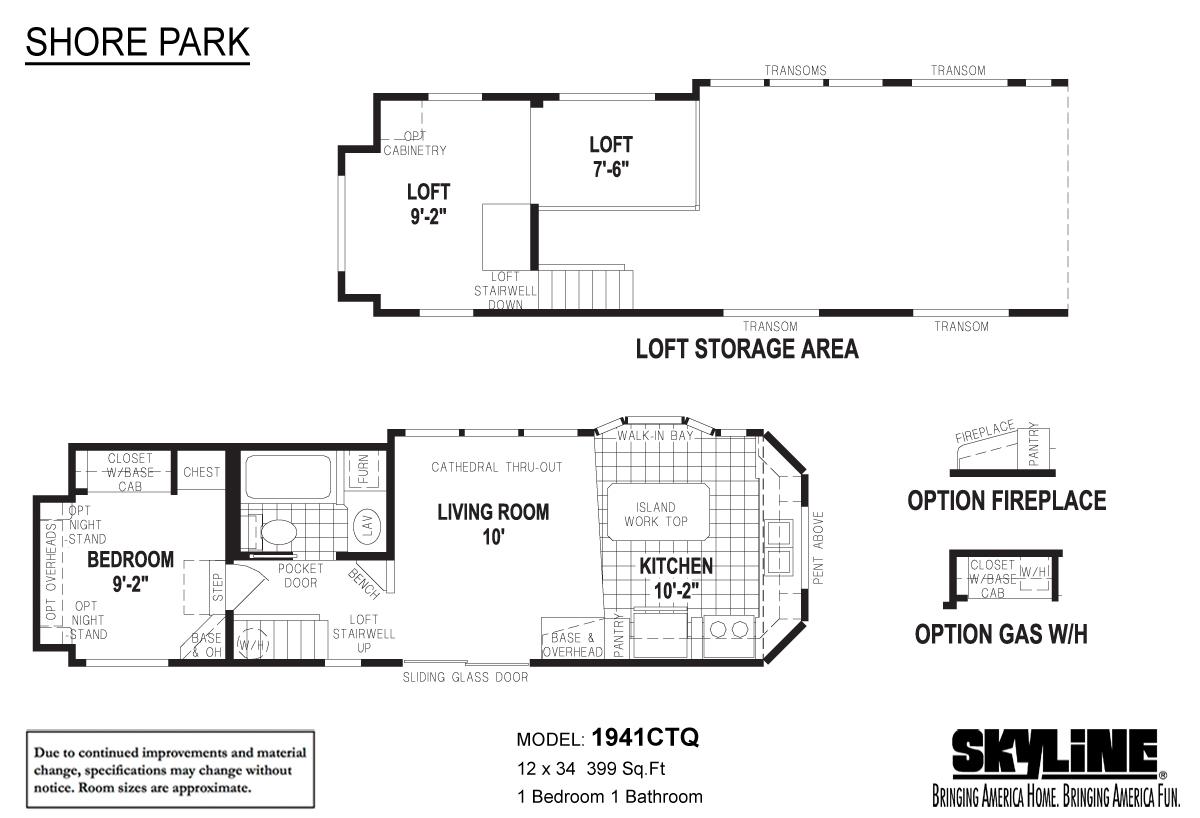 Floor Plan Layout: Shore Park / 1941CTQ