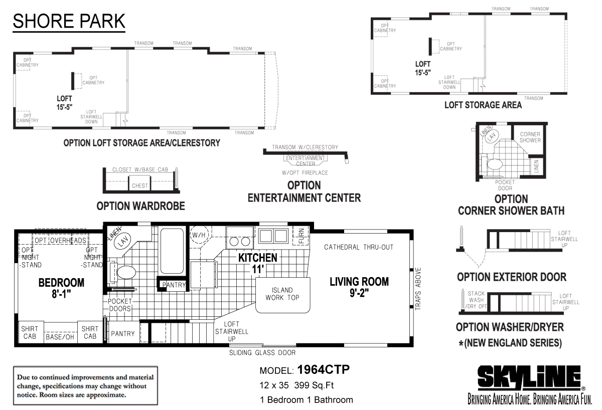 Floor Plan Layout: Shore Park / 1964CTP
