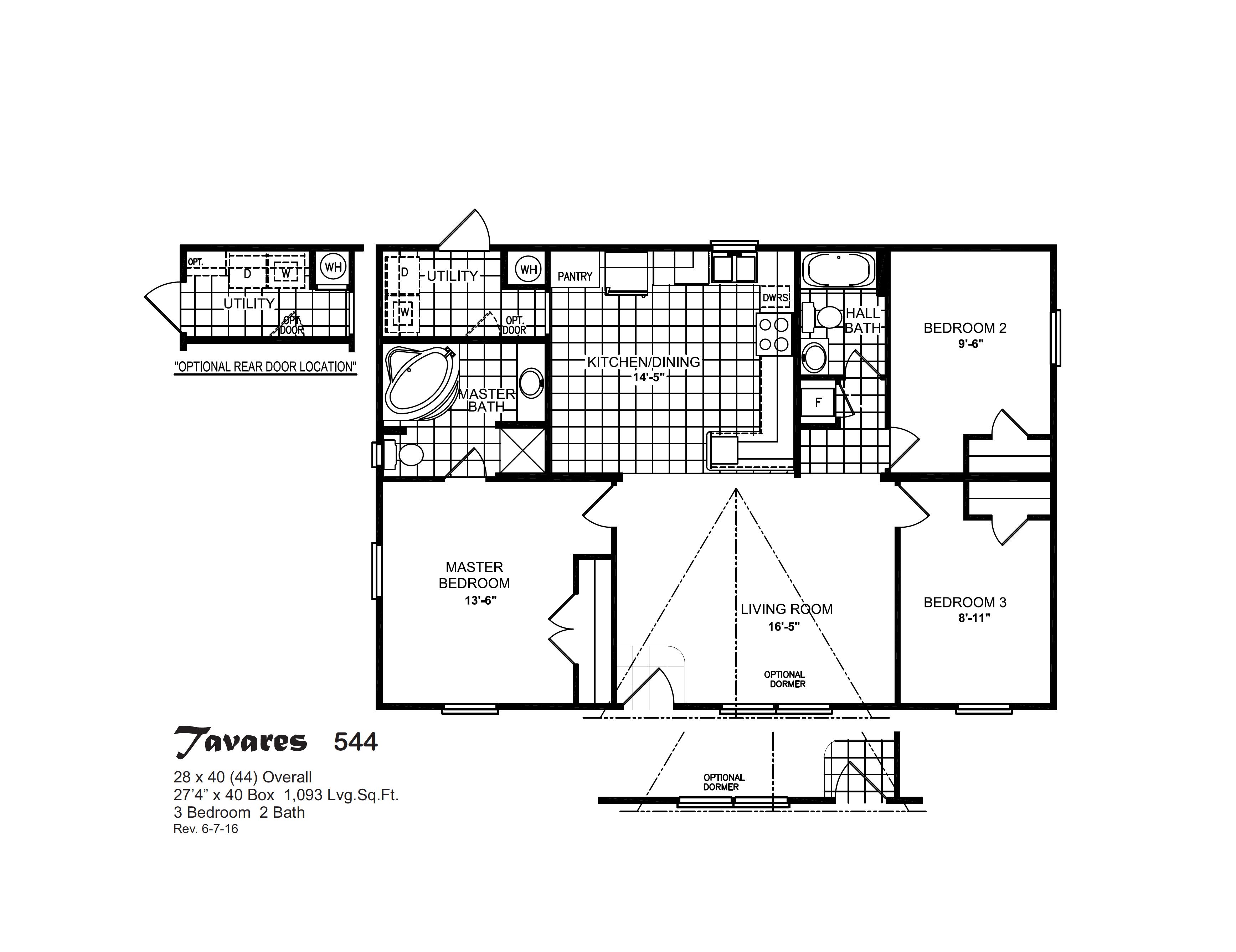 Floor Plan Layout: Compass / Tavares 544