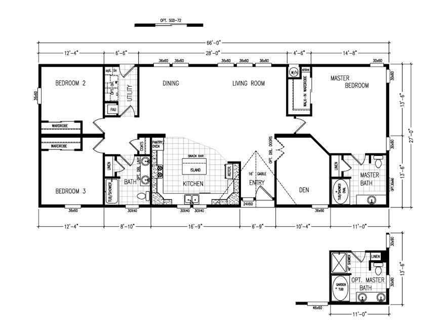 Baughn cameron manufactured homes lower lake in lower for Elite house plans